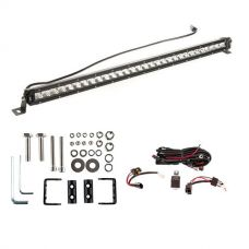 """Kings 30"""" Slim Line LED Light Bar + Wiring Harness + Sliding Brackets for Slim Line Light Bars (Pair)"""