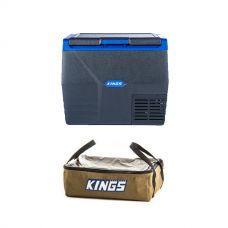 Kings 35L Fridge / Freezer + Adventure Kings Clear Top Canvas Bag