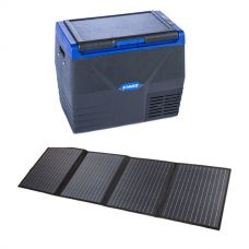 Adventure Kings 120W Solar Blanket with MPPT Regulator + Kings 35L Fridge / Freezer
