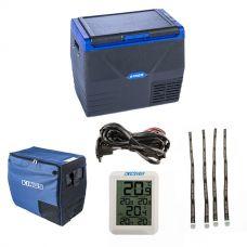 Kings 35L Fridge / Freezer + 35L Fridge Cover + 12V Fridge Wiring Kit + Wireless Fridge Thermometer + Fridge Tie Down Straps (4 pack)