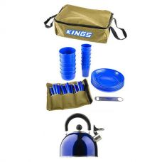 Adventure Kings 37 Piece Picnic Set + Adventure Kings Camping Kettle
