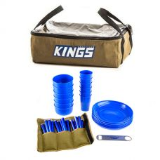 Adventure Kings 37 Piece Picnic Set + Adventure Kings Clear Top Canvas Bag