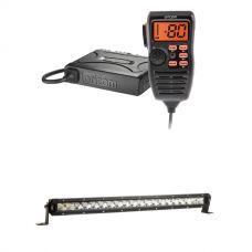 "Oricom UHF380PK In-Car 5W CB Radio + Kings 20"" Slim Line LED Light Bar"