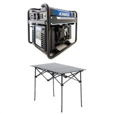 Adventure Kings 3.5kVA Open Generator + Aluminium Roll-Up Camping Table