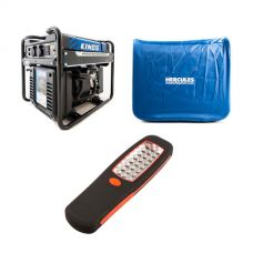 Adventure Kings 3.5kVA Open Generator + 3.5kVA Generator Cover + Illuminator 24 LED Work Light