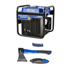 Adventure Kings 3.0kVA Inverter Generator + Three Piece Axe, Folding Saw and Knife Kit