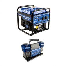 Adventure Kings 3.0kVA Inverter Generator + Thumper Max Dual Air Compressor MkII
