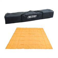 Kings 3x3m Polyester Gazebo Bag + Mesh Flooring 3m x 3m - High-Density Weave