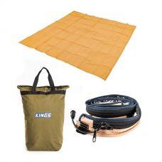 Adventure Kings - Mesh Flooring 3m x 3m + Adventure Kings LED Strip Light + Doona/Pillow Canvas Bag
