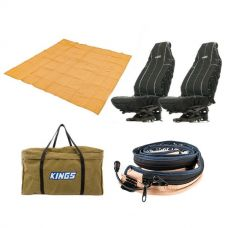 Adventure Kings - Mesh Flooring 3m x 3m + Adventure Kings LED Strip Light + Heavy Duty Seat Covers + BBQ Canvas Bag