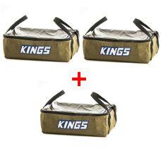 3 x Adventure Kings Clear Top Canvas Bag