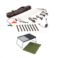 Illuminator 4 Bar Camp Light Kit + Adventure Kings Camp Fire BBQ Plate