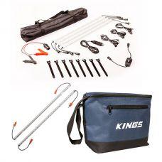 Adventure Kings Illuminator 4 Bar Camp Light Kit + Orange LED Camp Light Extension Kit + Cooler Bag