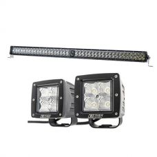 "Kings 40"" Laser Light Bar + 3"" LED Work Light - Pair"