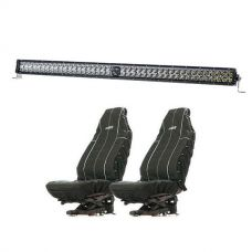 "Kings 40"" Laser Light Bar + Heavy Duty Seat Covers (Pair)"