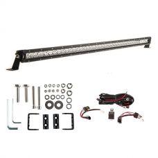 """Kings 40"""" Slim Line LED Light Bar + Wiring Harness + Sliding Brackets for Slim Line Light Bars (Pair)"""
