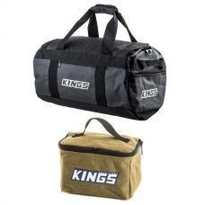 Kings 40L Large PVC Duffle Bag + Toiletry Canvas Bag