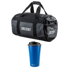 Kings 40L Large PVC Duffle Bag + 410ml Travel Mug