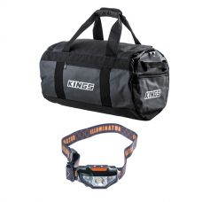Kings 40L Large PVC Duffle Bag + Illuminator LED Head Torch