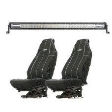 "Adventure Kings Domin8r 42"" LED Light Bar + Adventure Kings Heavy Duty Seat Covers"