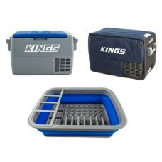 Adventure Kings 45L Camping Fridge + 45L Camping Fridge Cover + Collapsible Dish Rack