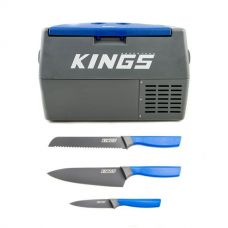 Adventure Kings 45L Camping Fridge + 4-Piece Camping Chef's Knives Kit