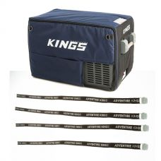 Adventure Kings 45L Camping Fridge Cover + Fridge Tie Down Straps (4 pack)