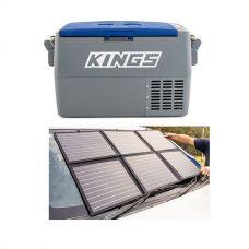 Adventure Kings 45L Camping Fridge + Adventure Kings 120W Portable Solar Blanket