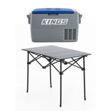 Adventure Kings 45L Camping Fridge +  Portable Alloy Camping Table