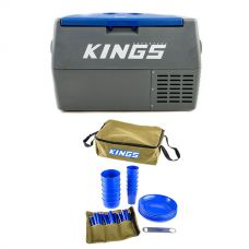 Adventure Kings 45L Camping Fridge + Adventure Kings 37 Piece Picnic Set