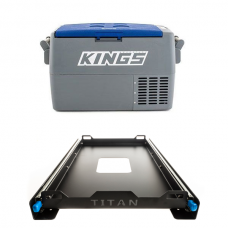 Adventure Kings 45L Camping Fridge + Titan 60L Fridge Slide