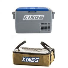 Adventure Kings 45L Camping Fridge + Clear Top Canvas Bag