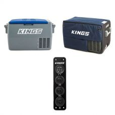 Adventure Kings 45L Camping Fridge + Kings 45L Camping Fridge Cover + 12V Accessory Panel