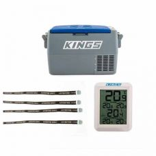 Adventure Kings 45L Camping Fridge + Wireless Fridge Thermometer + Fridge Tie Down Straps (4 pack)