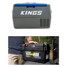 Adventure Kings 45L Camping Fridge + Maxi Battery Box