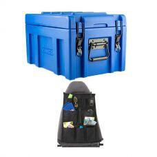Kings 45L Tough Front Opening Storage Box + Car Seat Organiser