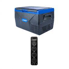 Kings 35L Fridge / Freezer + 12V Accessory Panel