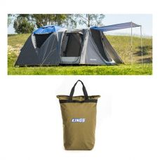 Adventure Kings 6 Person Geo Dome Tent + Doona/Pillow Canvas Bag