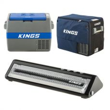 Adventure Kings 60L Camping Fridge/Freezer + 60L Camping Fridge Cover + Vacuum Sealer