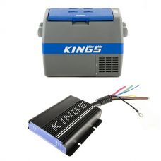 Adventure Kings 60L Camping Fridge + Adventure Kings 25AMP DC-DC Charger (with MPPT SOLAR)