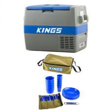 Adventure Kings 60L Camping Fridge/Freezer + Adventure Kings 37 Piece Picnic Set