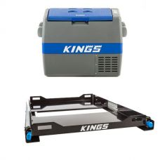 Adventure Kings 60L Camping Fridge + Kings Fridge Slide
