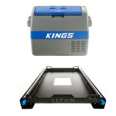 Adventure Kings 60L Camping Fridge + Titan 60L Fridge Slide