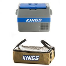 Adventure Kings 60L Camping Fridge/Freezer + Clear Top Canvas Bag