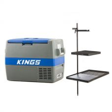 Adventure Kings 60L Camping Fridge/Freezer + Kings Campfire Cooking BBQ