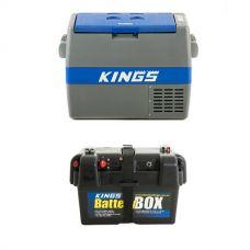 Adventure Kings 60L Camping Fridge + Adventure Kings Battery Box