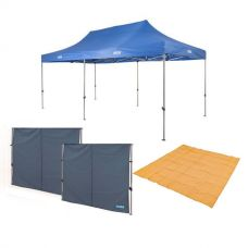 Adventure Kings - Gazebo 6m x 3m + 2x Gazebo Side Wall +  Mesh Flooring 3x3m