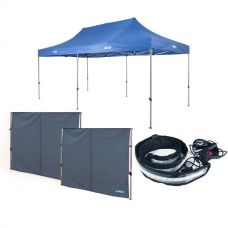 Adventure Kings Gazebo 6m x 3m + 2x Gazebo Side Wall + LED Strip Light