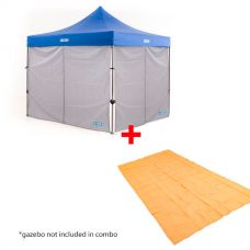 2x Adventure Kings Gazebo Side Wall + Adventure Kings Mesh Flooring 6m x 3m