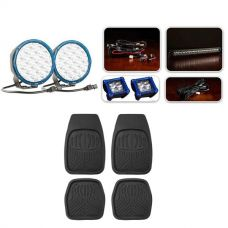 """Ultimate 7"""" Domin8rX Driving Light Pack fitted with OSRAM LEDs + Deep Dish Floor Mats Set of 4"""